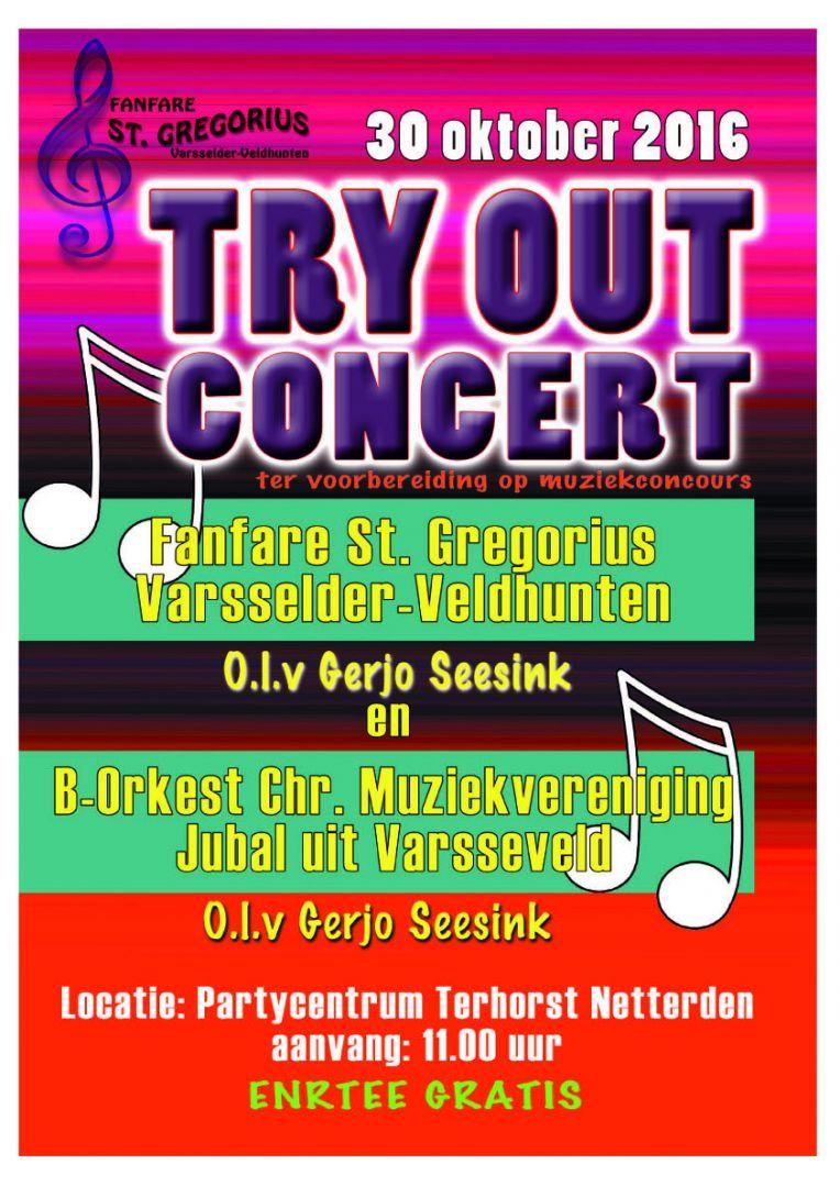 Try out concert 30 okt 2016